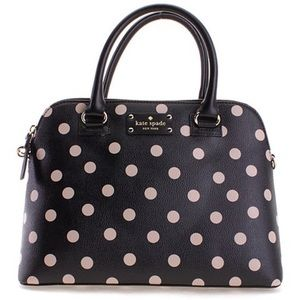 Kate Spade-Wellesley Rachelle Black w Polka Dots
